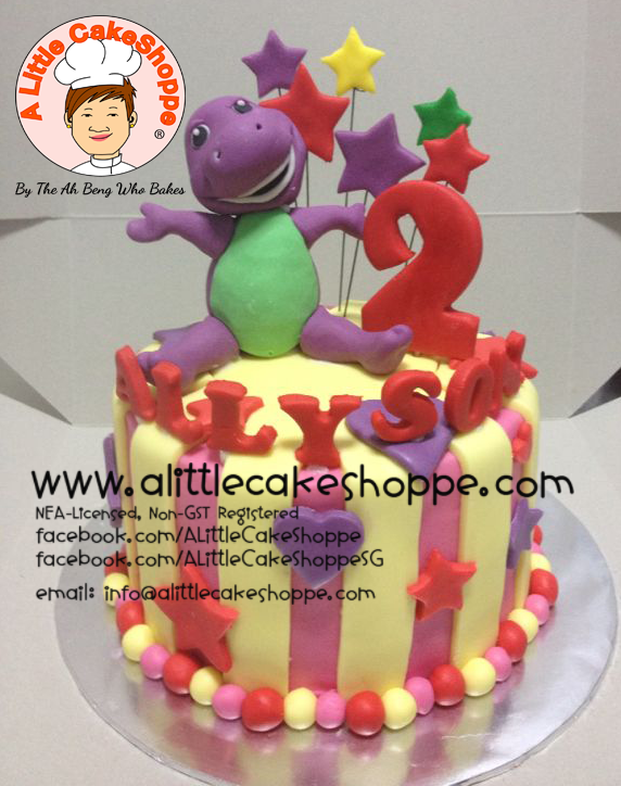 Best Customised Cake Shop Singapore custom cake 2D 3D birthday cake cupcakes desserts wedding corporate events anniversary 1st birthday 21st birthday fondant fresh cream buttercream cakes alittlecakeshoppe a little cake shoppe compliments review singapore bakers SG cake shop cakeshop ah beng who bakes barney and friends