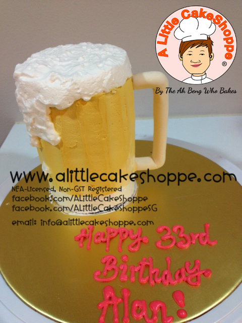 Best Customised Cake Shop Singapore custom cake 2D 3D birthday cake cupcakes desserts wedding corporate events anniversary 1st birthday 21st birthday fondant fresh cream buttercream cakes alittlecakeshoppe a little cake shoppe compliments review singapore bakers SG cake shop cakeshop ah beng who bakes alcohol beer