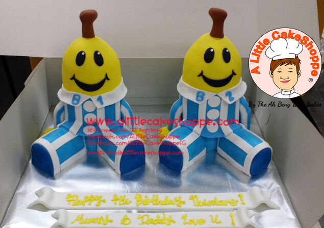 Best Customised Cake Singapore custom cake 2D 3D birthday cake cupcakes wedding corporate events anniversary fondant fresh cream buttercream cakes alittlecakeshoppe compliments review singapore bakers SG cakeshop ah beng who bakes bananas in PJs