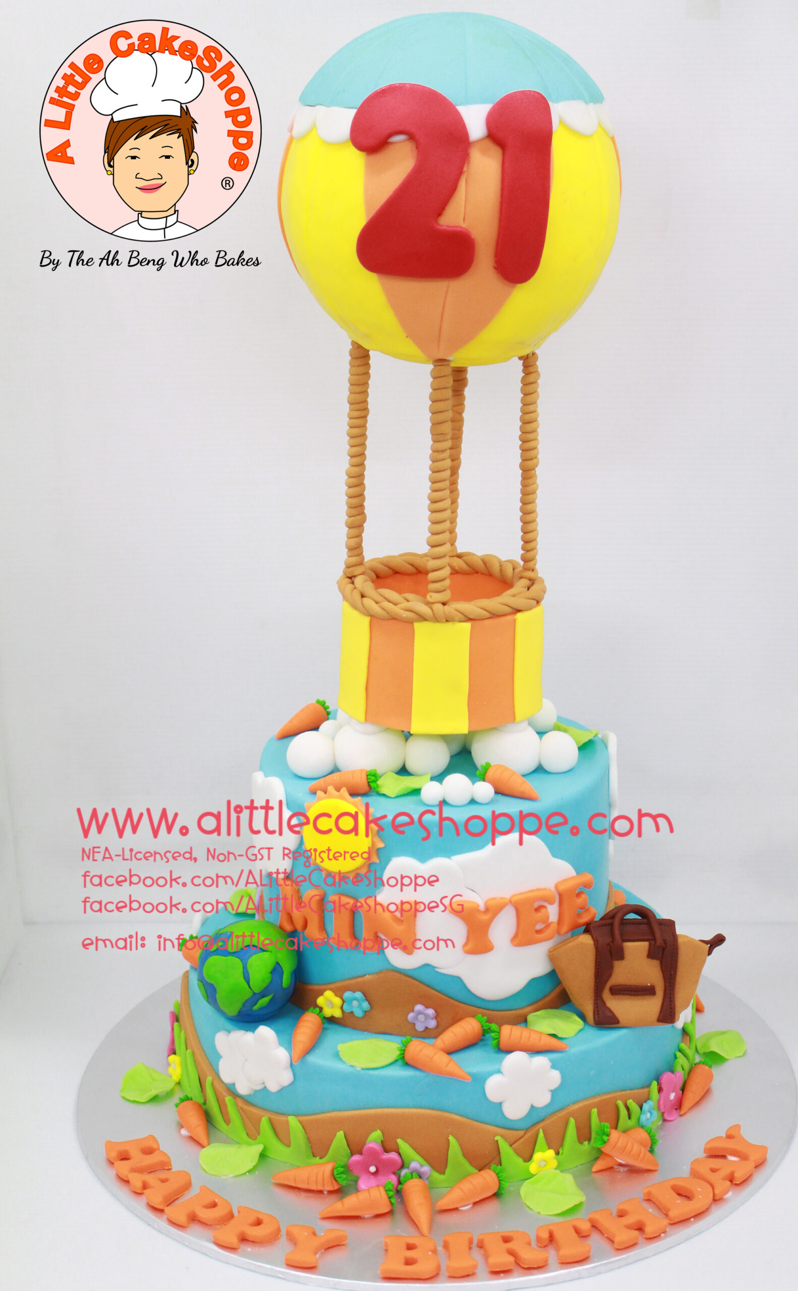 Best Customised Cake Shop Singapore custom cake 2D 3D birthday cake cupcakes desserts wedding corporate events anniversary 1st birthday 21st birthday fondant fresh cream buttercream cakes alittlecakeshoppe a little cake shoppe compliments review singapore bakers SG cake shop cakeshop ah beng who bakes balloon travel