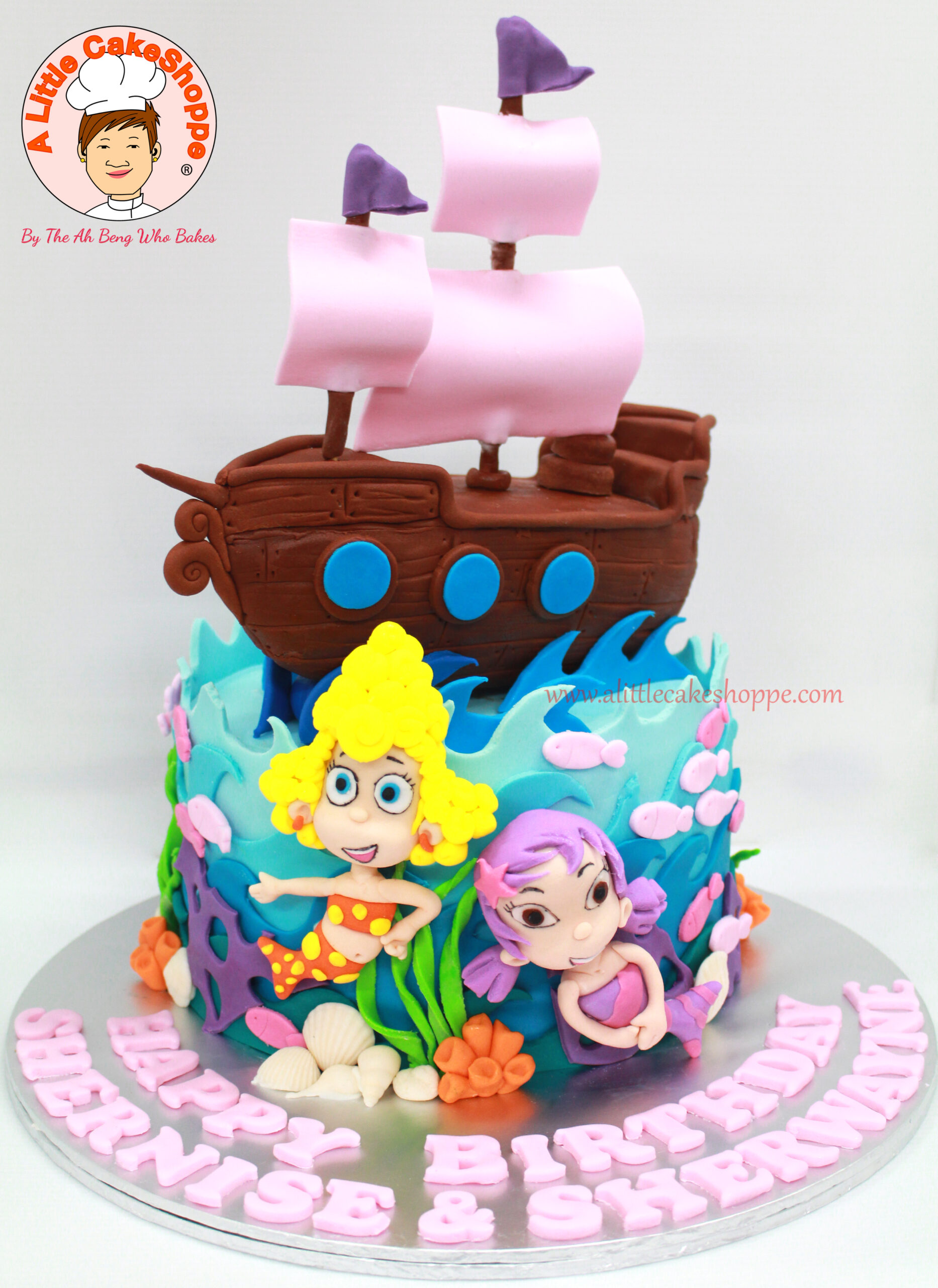 Best Customised Cake Shop Singapore custom cake 2D 3D birthday cake cupcakes desserts wedding corporate events anniversary 1st birthday 21st birthday fondant fresh cream buttercream cakes alittlecakeshoppe a little cake shoppe compliments review singapore bakers SG cake shop cakeshop ah beng who bakes bubble guppies