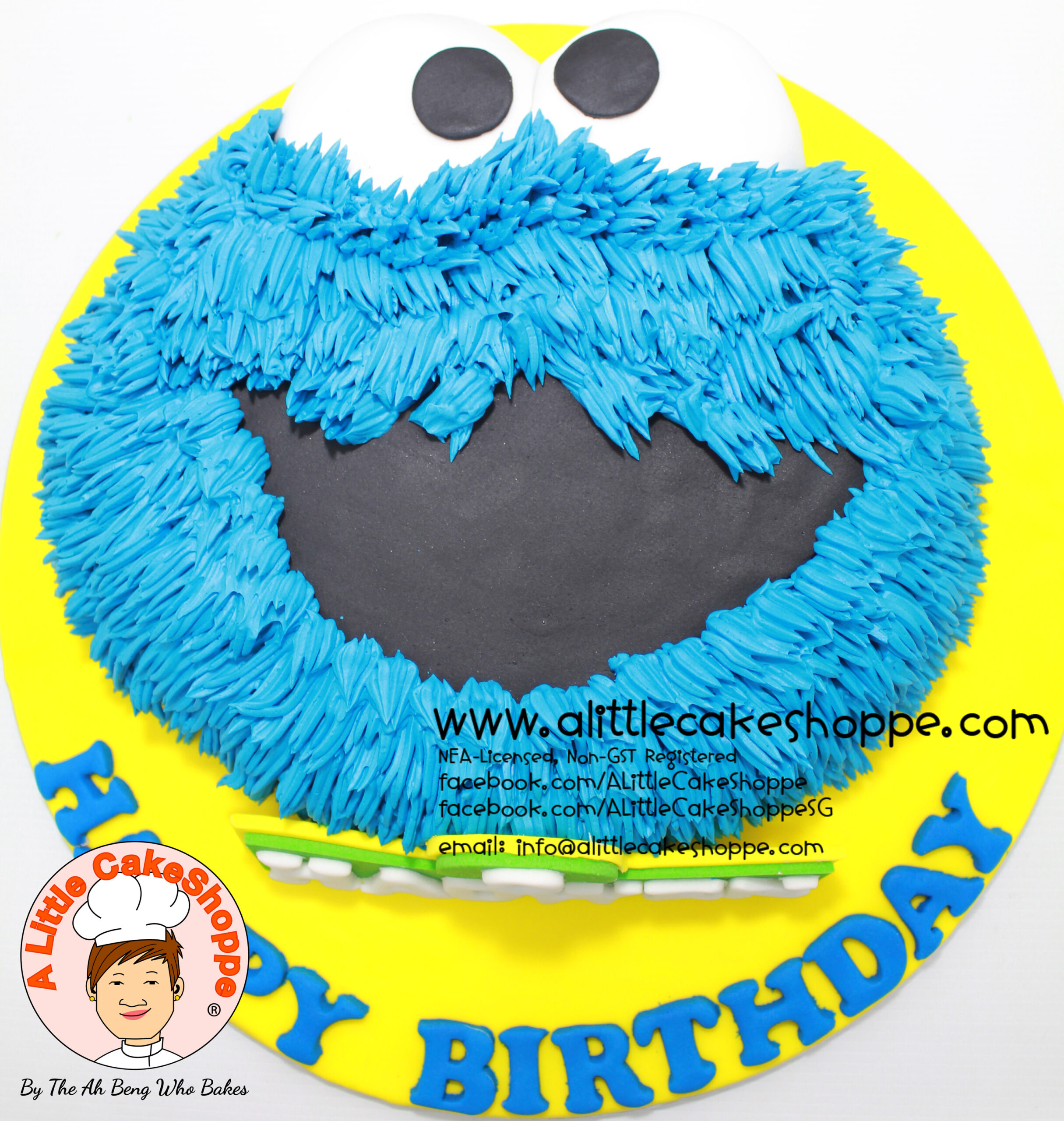 Best Customised Cake Shop Singapore custom cake 2D 3D birthday cake cupcakes desserts wedding corporate events anniversary 1st birthday 21st birthday fondant fresh cream buttercream cakes alittlecakeshoppe a little cake shoppe compliments review singapore bakers SG cake shop cakeshop ah beng who bakes sesame street elmo cookie monster