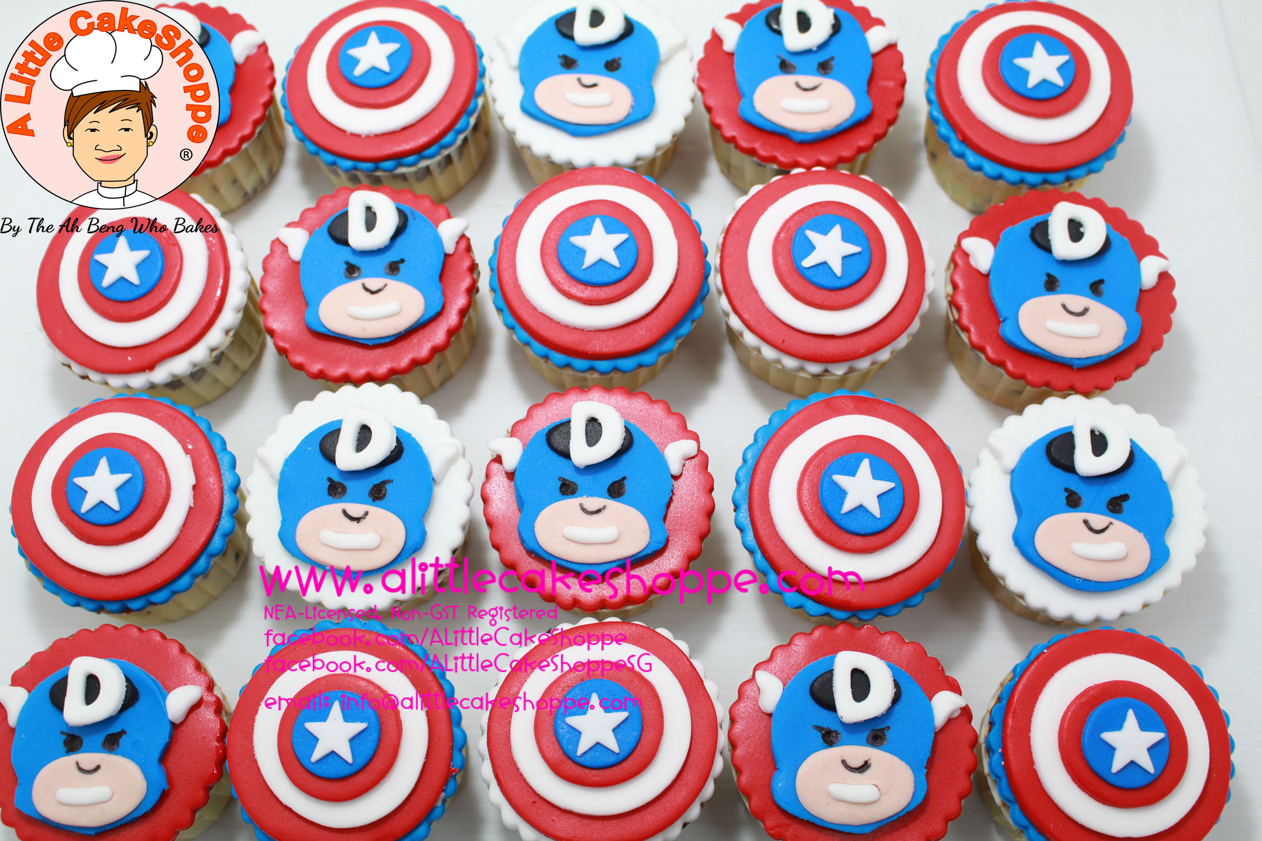 Best Customised Cake Shop Singapore custom cake 2D 3D birthday cake cupcakes desserts wedding corporate events anniversary 1st birthday 21st birthday fondant fresh cream buttercream cakes alittlecakeshoppe a little cake shoppe compliments review singapore bakers SG cake shop cakeshop ah beng who bakes avengers superhero dc hero captain america