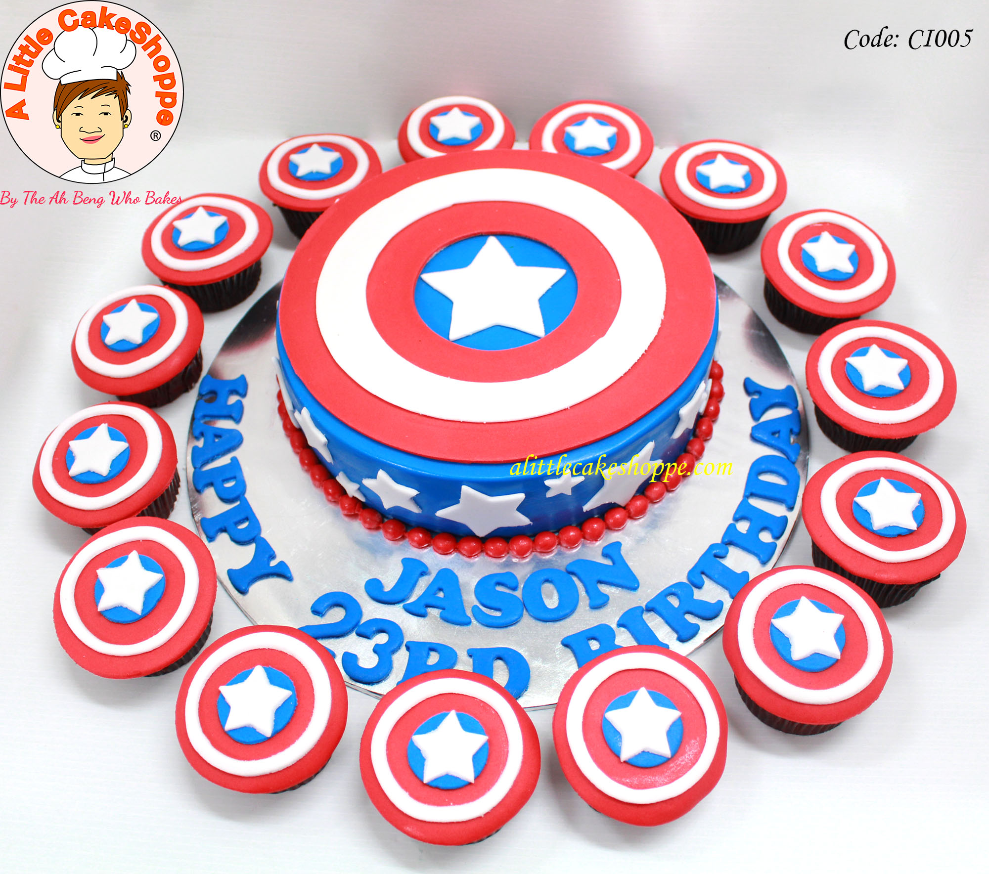 Best Customised Cake Shop Singapore custom cake 2D 3D birthday cake cupcakes desserts wedding corporate events anniversary 1st birthday 21st birthday fondant fresh cream buttercream cakes alittlecakeshoppe a little cake shoppe compliments review singapore bakers SG cake shop cakeshop ah beng who bakes superhero captain america