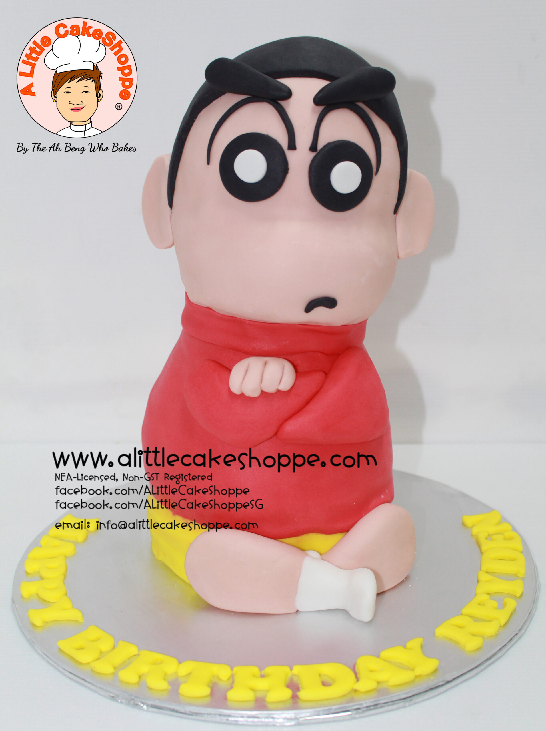 Best Customised Cake Shop Singapore custom cake 2D 3D birthday cake cupcakes desserts wedding corporate events anniversary 1st birthday 21st birthday fondant fresh cream buttercream cakes alittlecakeshoppe a little cake shoppe compliments review singapore bakers SG cake shop cakeshop ah beng who bakes crayon shin chan la bi xiao xin