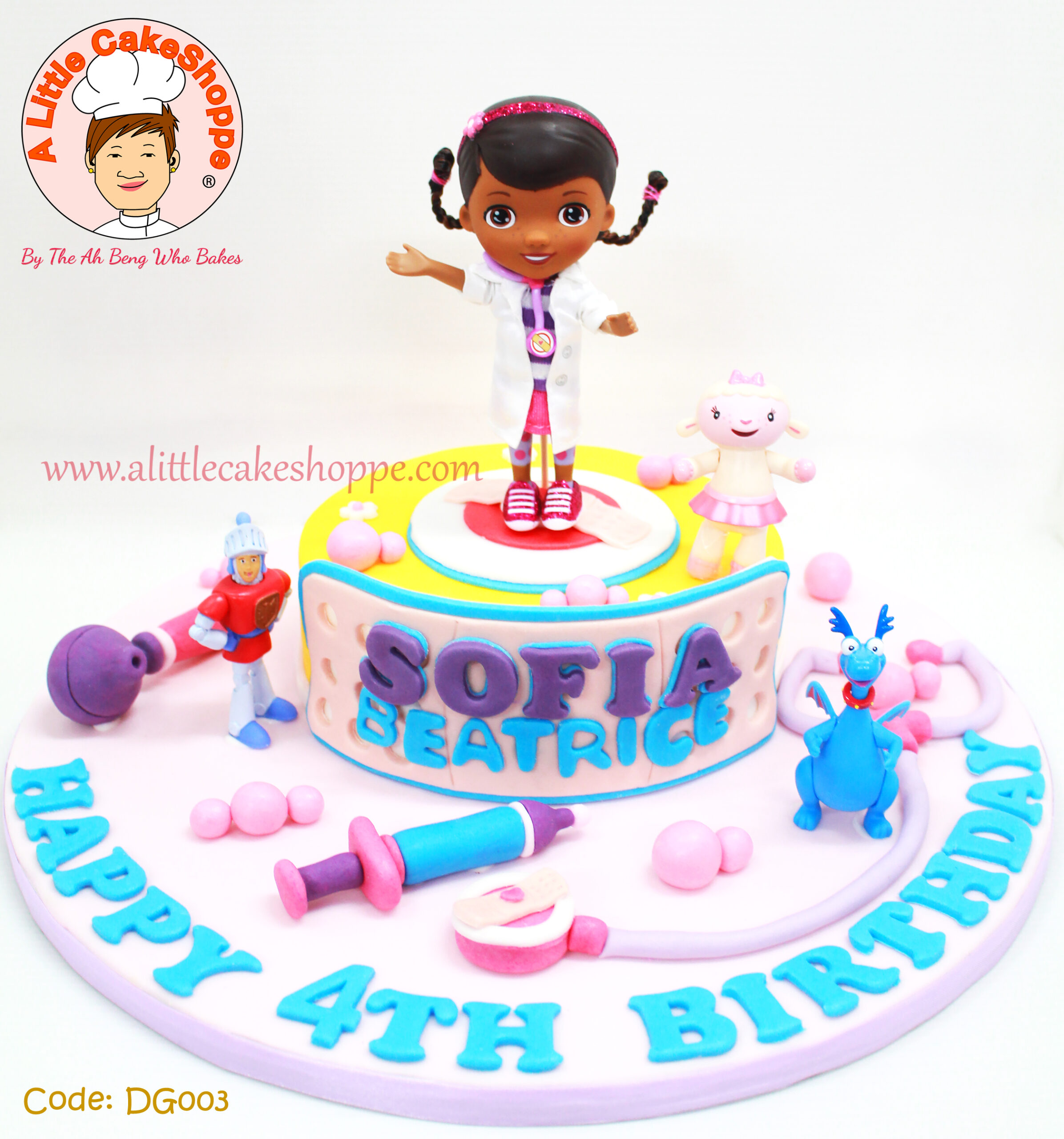 Best Customised Cake Shop Singapore custom cake 2D 3D birthday cake cupcakes desserts wedding corporate events anniversary 1st birthday 21st birthday fondant fresh cream buttercream cakes alittlecakeshoppe a little cake shoppe compliments review singapore bakers SG cake shop cakeshop ah beng who bakes doc mcstuffin