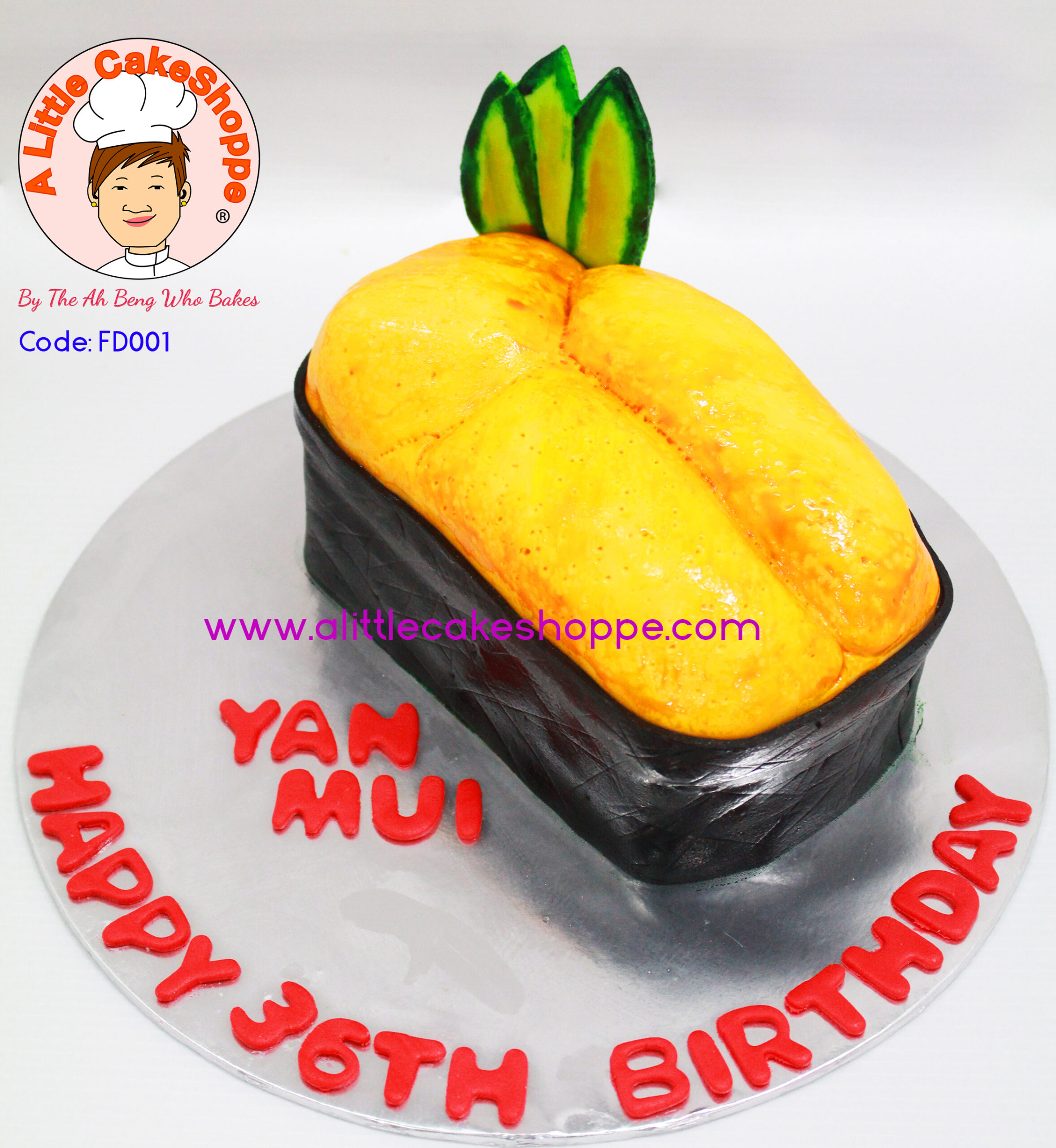 Best Customised Cake Shop Singapore custom cake 2D 3D birthday cake cupcakes desserts wedding corporate events anniversary 1st birthday 21st birthday fondant fresh cream buttercream cakes alittlecakeshoppe a little cake shoppe compliments review singapore bakers SG cake shop cakeshop ah beng who bakes sushi food