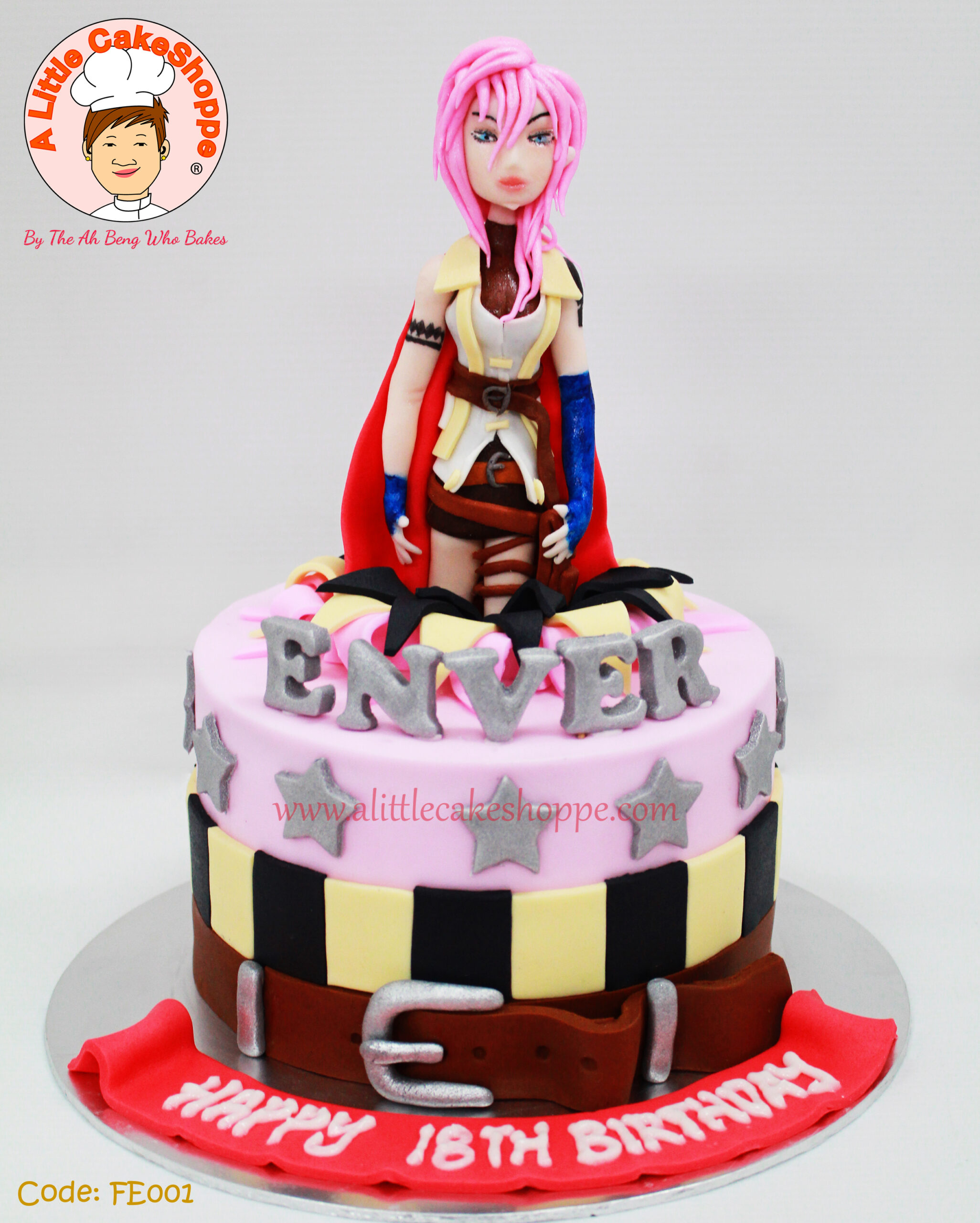 Best Customised Cake Shop Singapore custom cake 2D 3D birthday cake cupcakes desserts wedding corporate events anniversary 1st birthday 21st birthday fondant fresh cream buttercream cakes alittlecakeshoppe a little cake shoppe compliments review singapore bakers SG cake shop cakeshop ah beng who bakes final fantasy