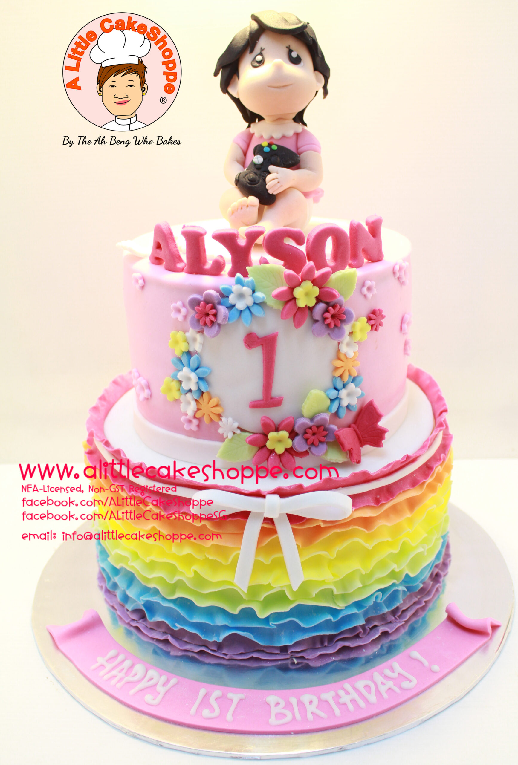 Best Customised Cake Shop Singapore custom cake 2D 3D birthday cake cupcakes desserts wedding corporate events anniversary 1st birthday 21st birthday fondant fresh cream buttercream cakes alittlecakeshoppe a little cake shoppe compliments review singapore bakers SG cake shop cakeshop ah beng who bakes girl