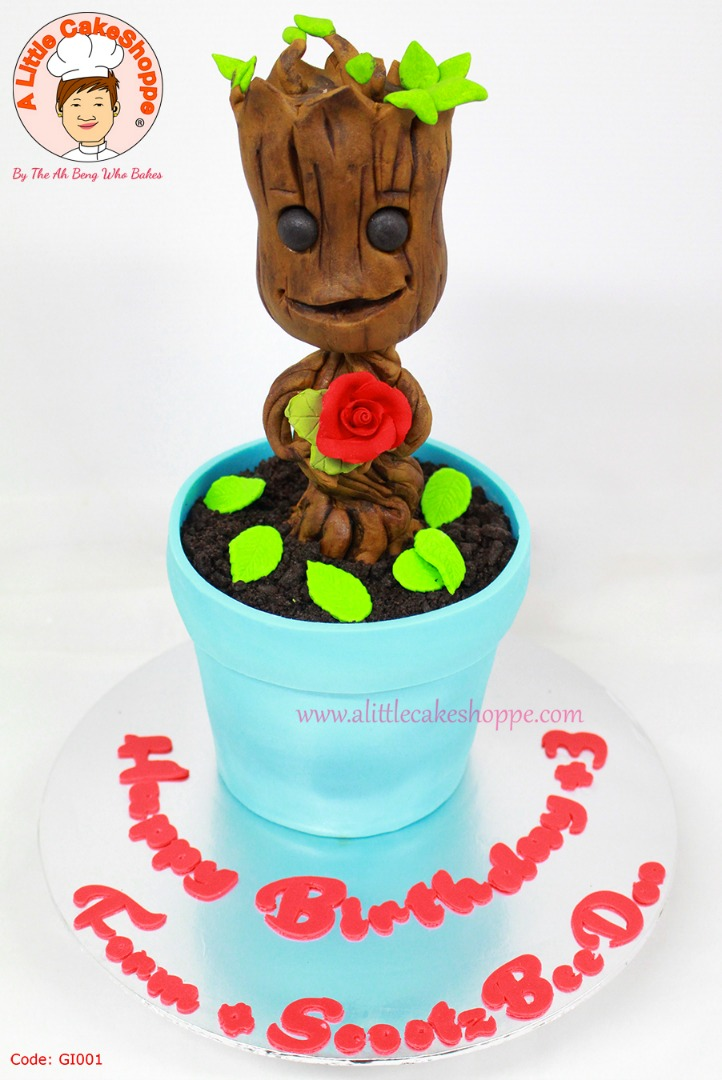 Best Customised Cake Shop Singapore custom cake 2D 3D birthday cake cupcakes desserts wedding corporate events anniversary 1st birthday 21st birthday fondant fresh cream buttercream cakes alittlecakeshoppe a little cake shoppe compliments review singapore bakers SG cake shop cakeshop ah beng who bakes guardians of the galaxy groot
