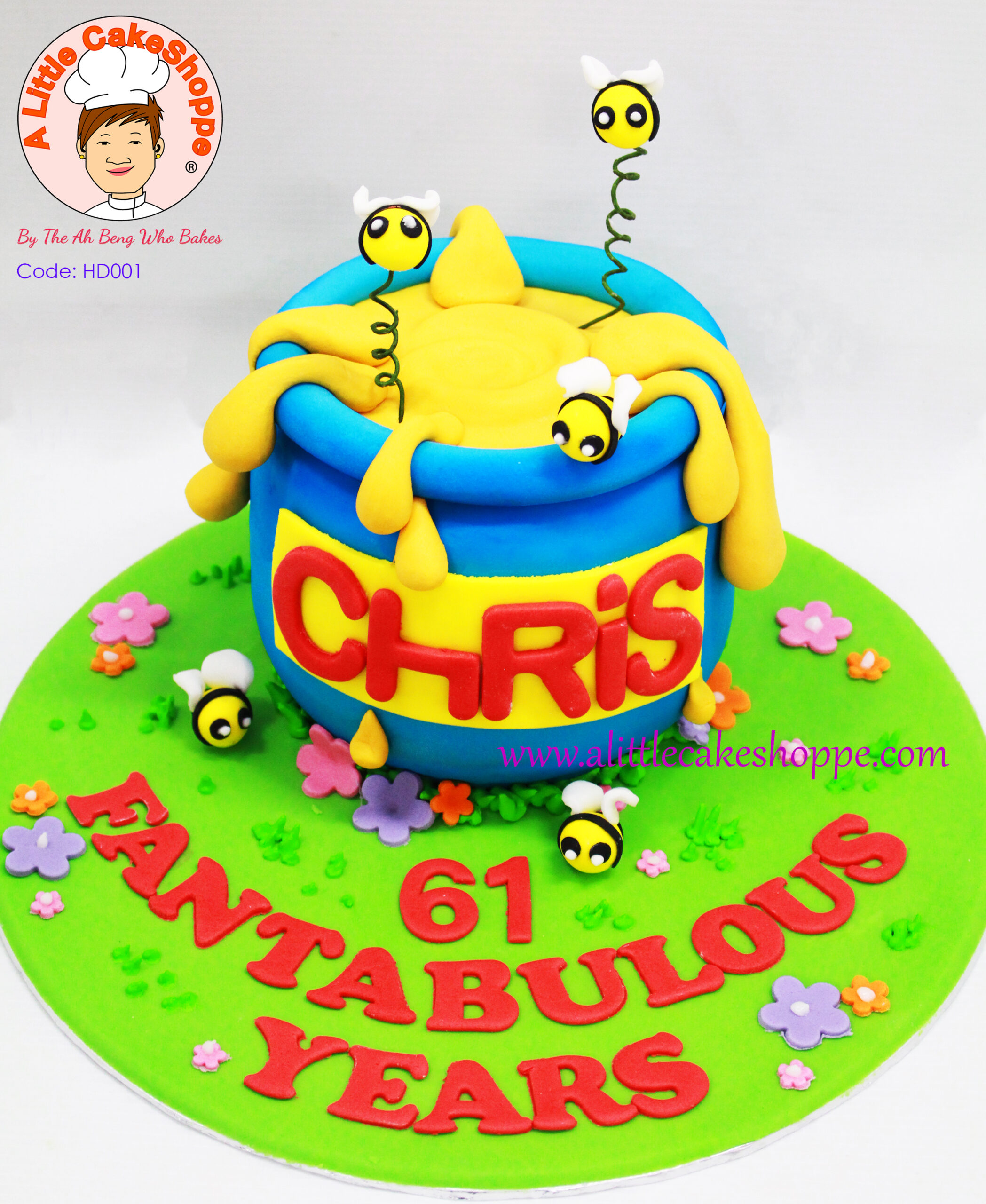 Best Customised Cake Shop Singapore custom cake 2D 3D birthday cake cupcakes desserts wedding corporate events anniversary 1st birthday 21st birthday fondant fresh cream buttercream cakes alittlecakeshoppe a little cake shoppe compliments review singapore bakers SG cake shop cakeshop ah beng who bakes winnie the pooh honey pot and bees