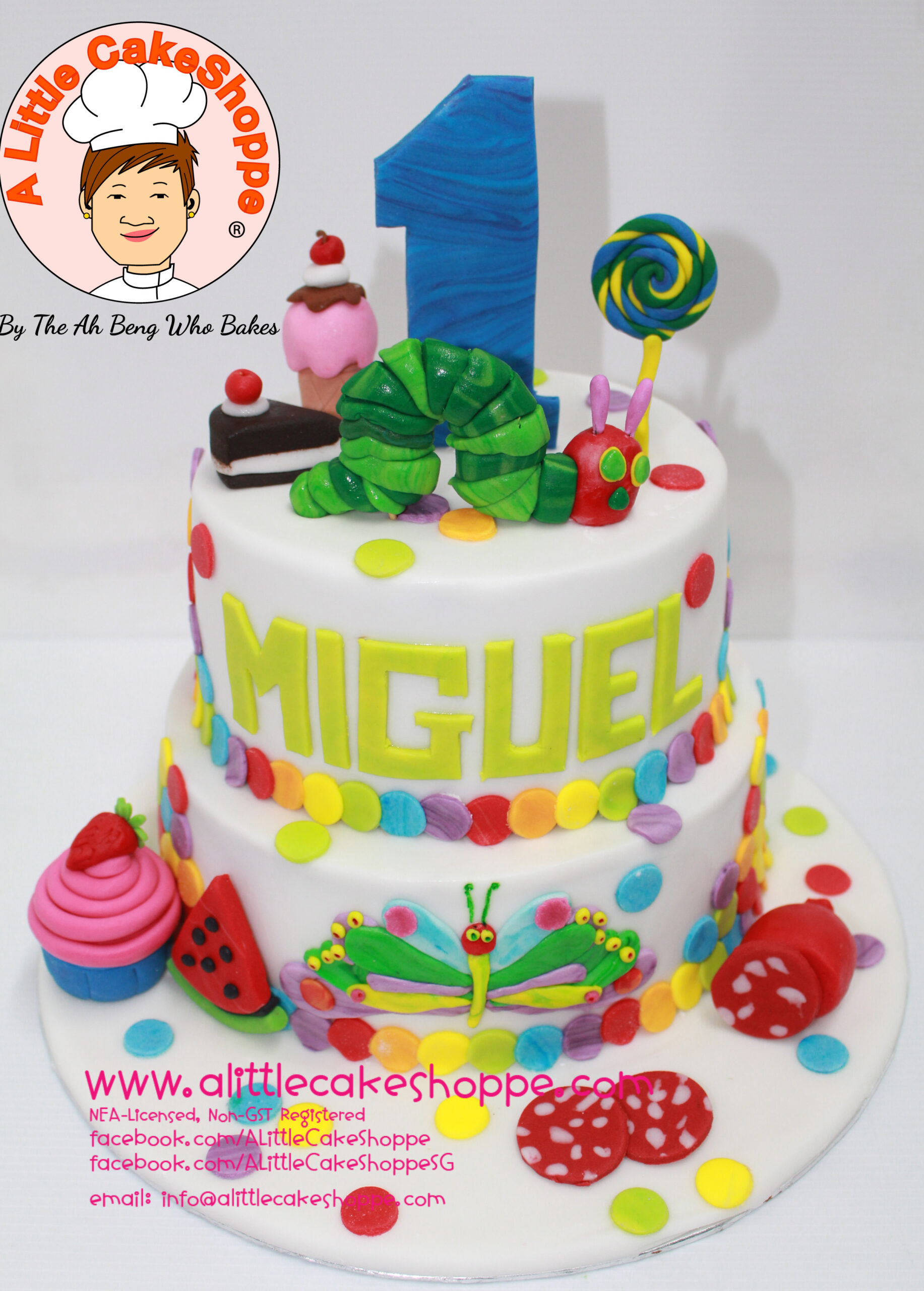 Best Customised Cake Shop Singapore custom cake 2D 3D birthday cake cupcakes desserts wedding corporate events anniversary 1st birthday 21st birthday fondant fresh cream buttercream cakes alittlecakeshoppe a little cake shoppe compliments review singapore bakers SG cake shop cakeshop ah beng who bakes the very hungry caterpillar