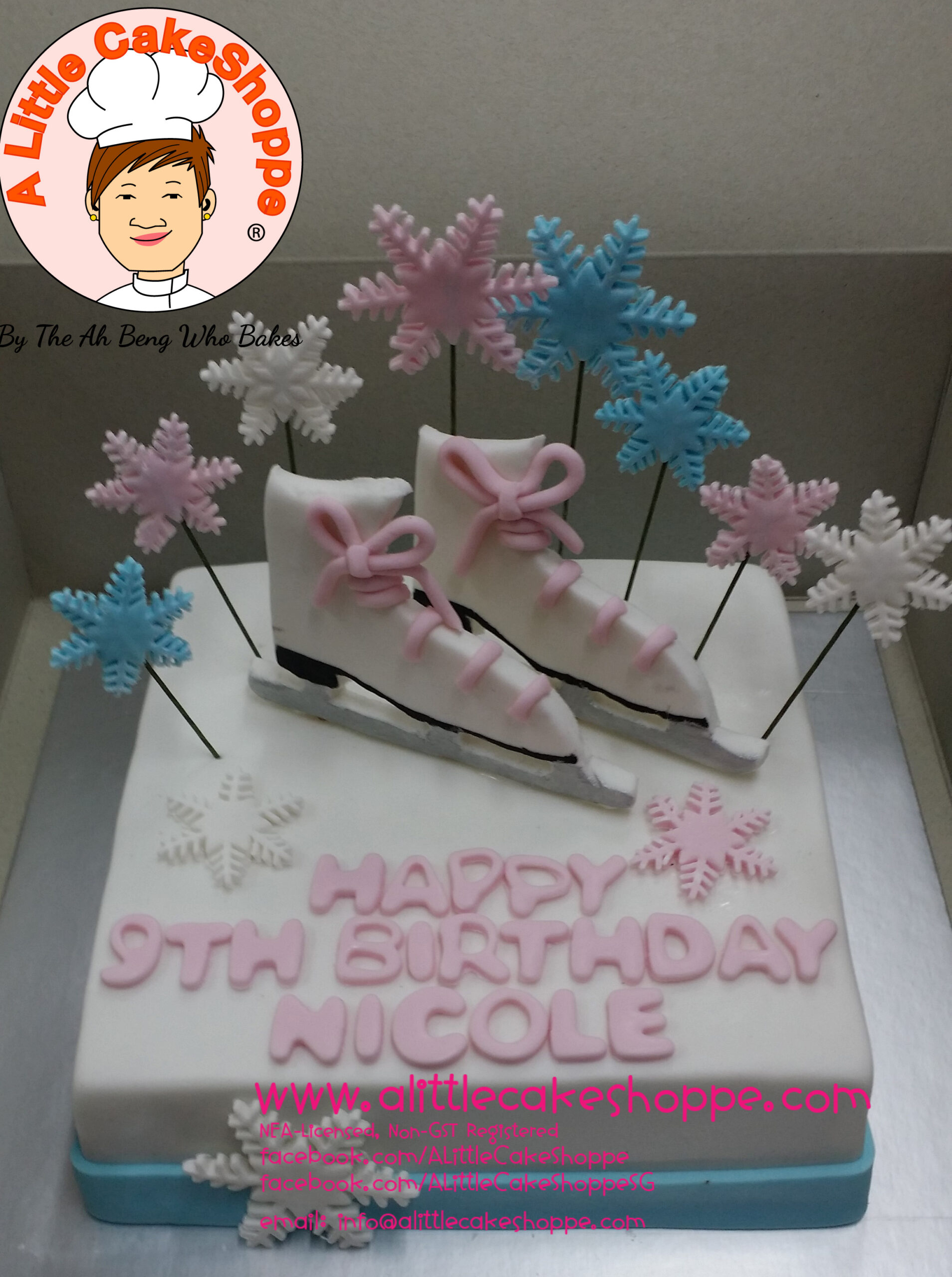 Best Customised Cake Shop Singapore custom cake 2D 3D birthday cake cupcakes desserts wedding corporate events anniversary 1st birthday 21st birthday fondant fresh cream buttercream cakes alittlecakeshoppe a little cake shoppe compliments review singapore bakers SG cake shop cakeshop ah beng who bakes sports ice skating