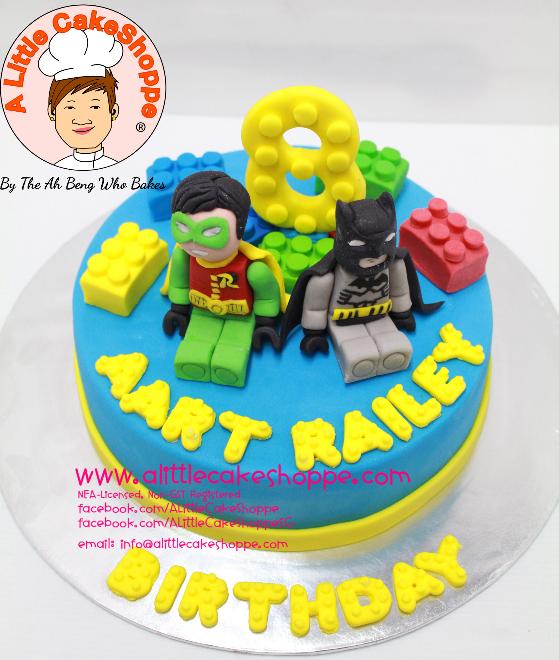 Best Customised Cake Shop Singapore custom cake 2D 3D birthday cake cupcakes desserts wedding corporate events anniversary 1st birthday 21st birthday fondant fresh cream buttercream cakes alittlecakeshoppe a little cake shoppe compliments review singapore bakers SG cake shop cakeshop ah beng who bakes lego batman