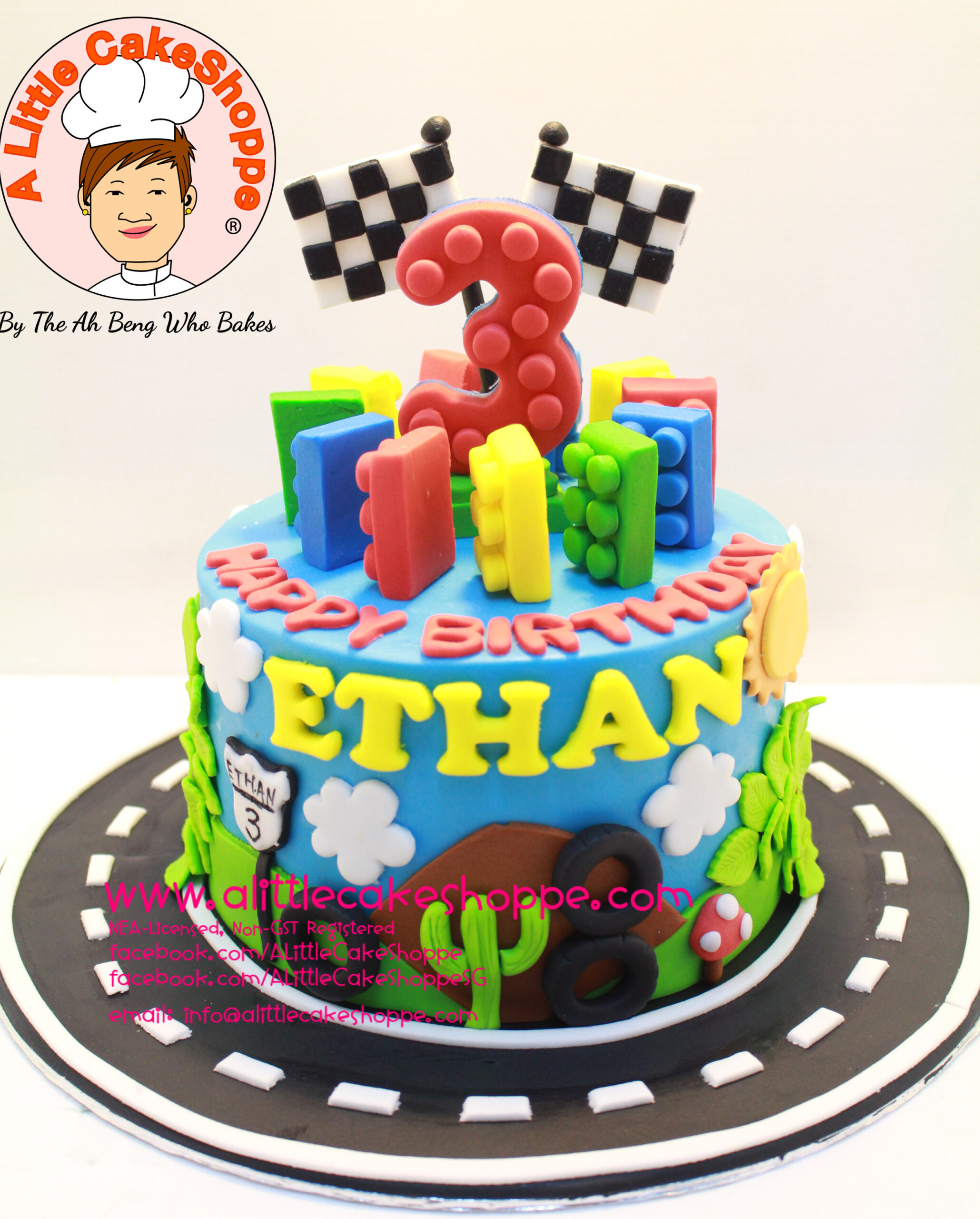 Best Customised Cake Shop Singapore custom cake 2D 3D birthday cake cupcakes desserts wedding corporate events anniversary 1st birthday 21st birthday fondant fresh cream buttercream cakes alittlecakeshoppe a little cake shoppe compliments review singapore bakers SG cake shop cakeshop ah beng who bakes lego car