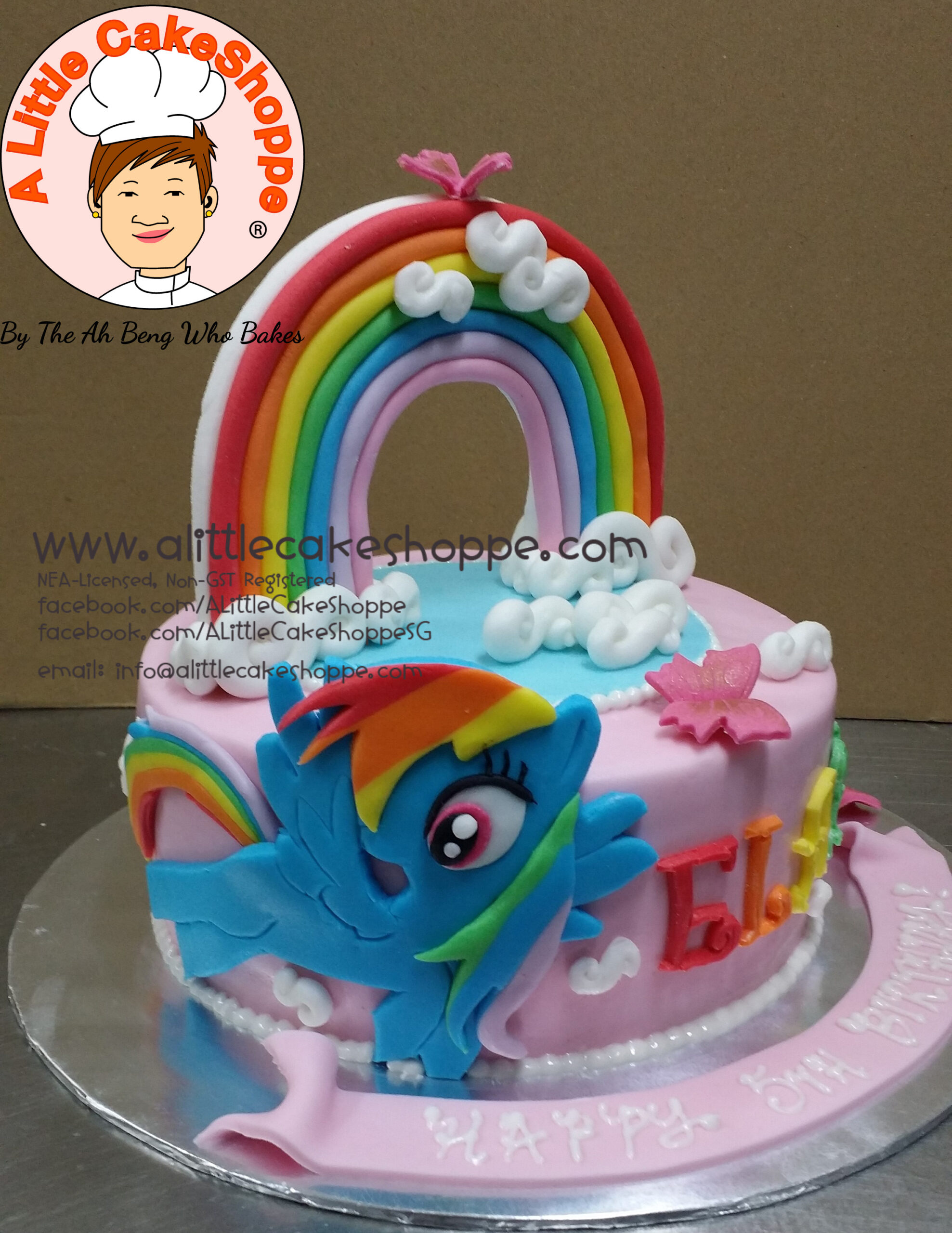 Best Customised Cake Shop Singapore custom cake 2D 3D birthday cake cupcakes desserts wedding corporate events anniversary 1st birthday 21st birthday fondant fresh cream buttercream cakes alittlecakeshoppe a little cake shoppe compliments review singapore bakers SG cake shop cakeshop ah beng who bakes my little pony MLP