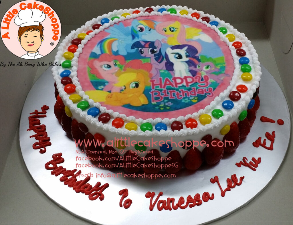 My Little Pony A Little Cakeshoppe Singapore Customized 2d And