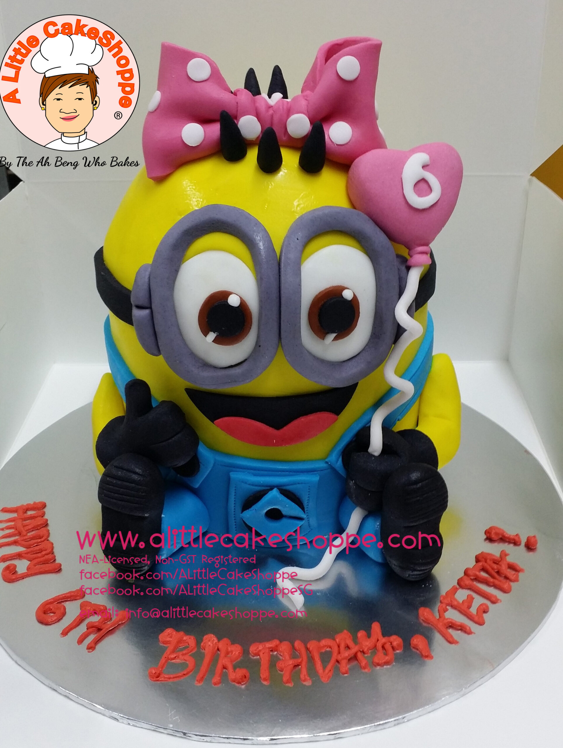 Best Customised Cake Shop Singapore custom cake 2D 3D birthday cake cupcakes desserts wedding corporate events anniversary 1st birthday 21st birthday fondant fresh cream buttercream cakes alittlecakeshoppe a little cake shoppe compliments review singapore bakers SG cake shop cakeshop ah beng who bakes minion