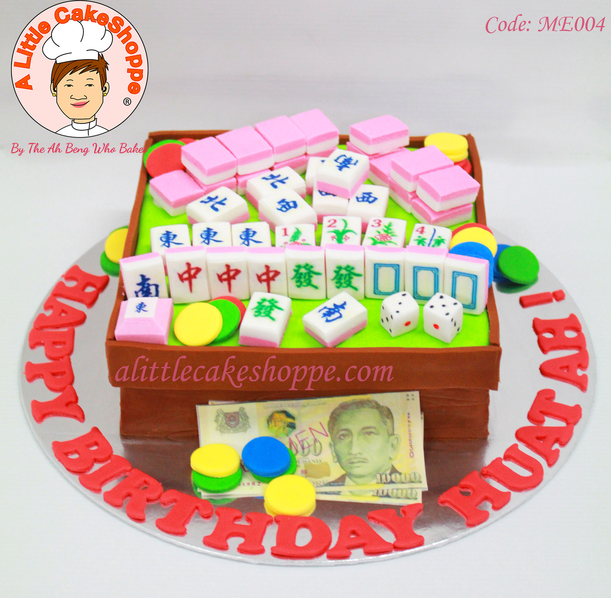 Best Customised Cake Shop Singapore custom cake 2D 3D birthday cake cupcakes desserts wedding corporate events anniversary 1st birthday 21st birthday fondant fresh cream buttercream cakes alittlecakeshoppe a little cake shoppe compliments review singapore bakers SG cake shop cakeshop ah beng who bakes mahjong gambling