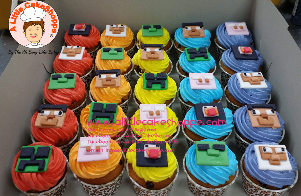 Minecraft A Little Cakeshoppe Singapore Customized 2d And 3d