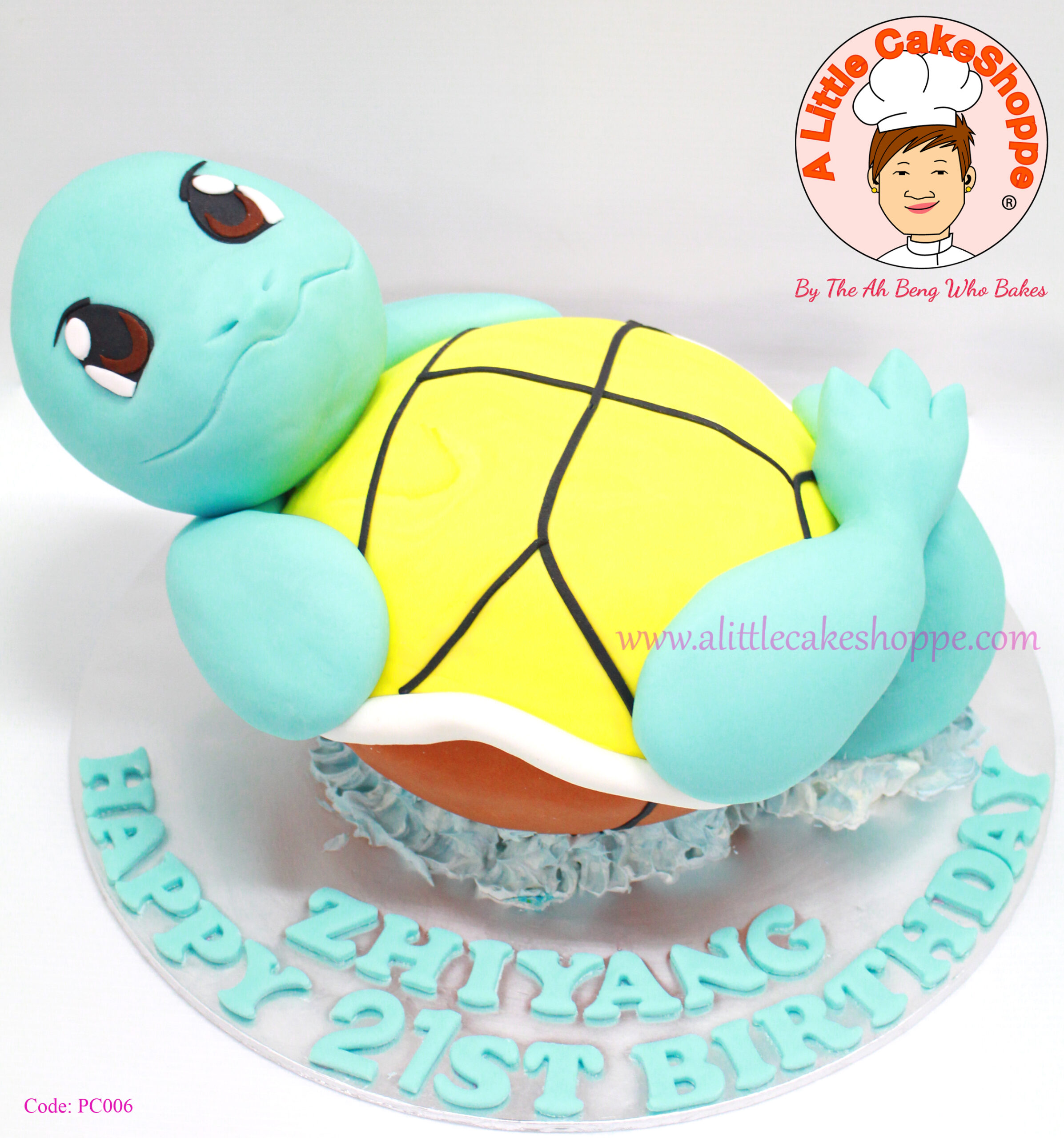 Best Customised Cake Shop Singapore custom cake 2D 3D birthday cake cupcakes desserts wedding corporate events anniversary 1st birthday 21st birthday fondant fresh cream buttercream cakes alittlecakeshoppe a little cake shoppe compliments review singapore bakers SG cake shop cakeshop ah beng who bakes pokemon squirtle