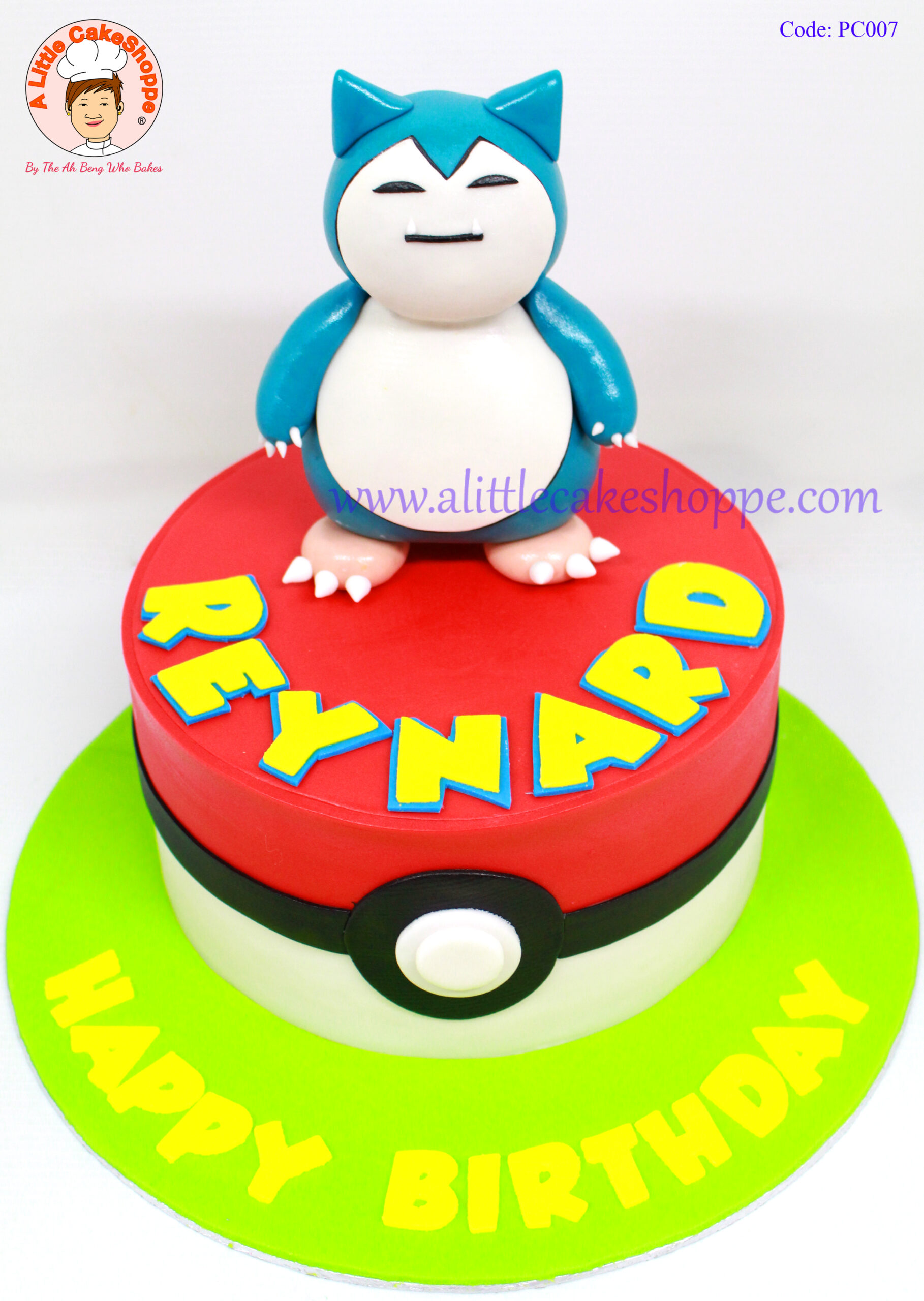 Best Customised Cake Shop Singapore custom cake 2D 3D birthday cake cupcakes desserts wedding corporate events anniversary 1st birthday 21st birthday fondant fresh cream buttercream cakes alittlecakeshoppe a little cake shoppe compliments review singapore bakers SG cake shop cakeshop ah beng who bakes pokemon snorlax