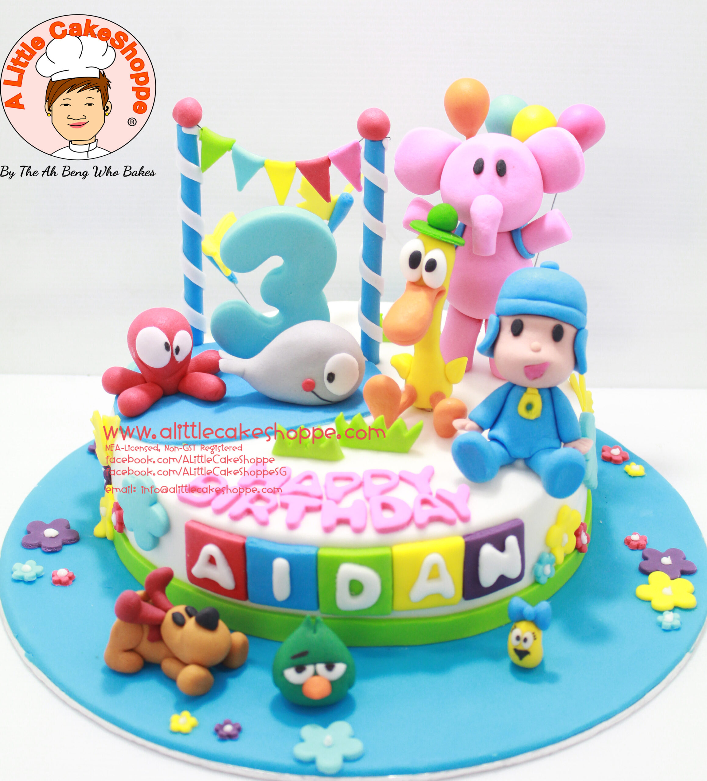 Best Customised Cake Shop Singapore custom cake 2D 3D birthday cake cupcakes desserts wedding corporate events anniversary 1st birthday 21st birthday fondant fresh cream buttercream cakes alittlecakeshoppe a little cake shoppe compliments review singapore bakers SG cake shop cakeshop ah beng who bakes pocoyo