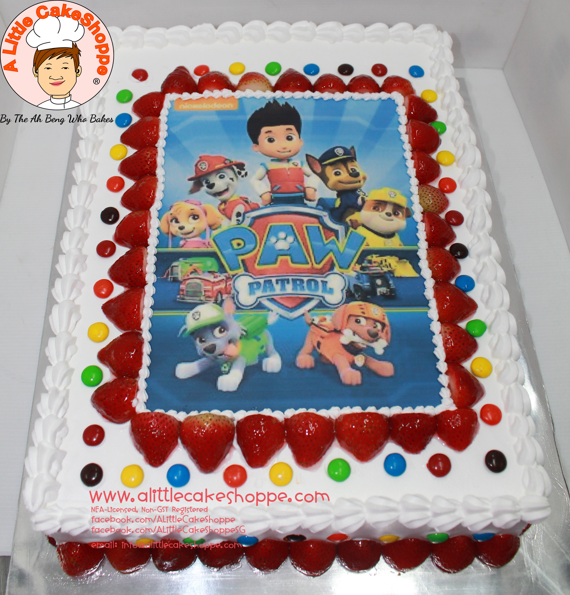 Best Customised Cake Shop Singapore custom cake 2D 3D birthday cake cupcakes desserts wedding corporate events anniversary 1st birthday 21st birthday fondant fresh cream buttercream cakes alittlecakeshoppe a little cake shoppe compliments review singapore bakers SG cake shop cakeshop ah beng who bakes paw patrol