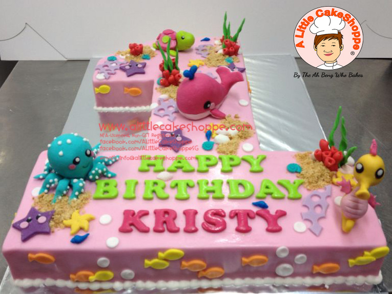 Best Customised Cake Singapore custom cake 2D 3D birthday cake cupcakes desserts wedding corporate events anniversary 1st birthday 21st birthday fondant fresh cream buttercream cakes alittlecakeshoppe a little cake shoppe compliments review singapore bakers SG cakeshop ah beng who bakes sea animals marine