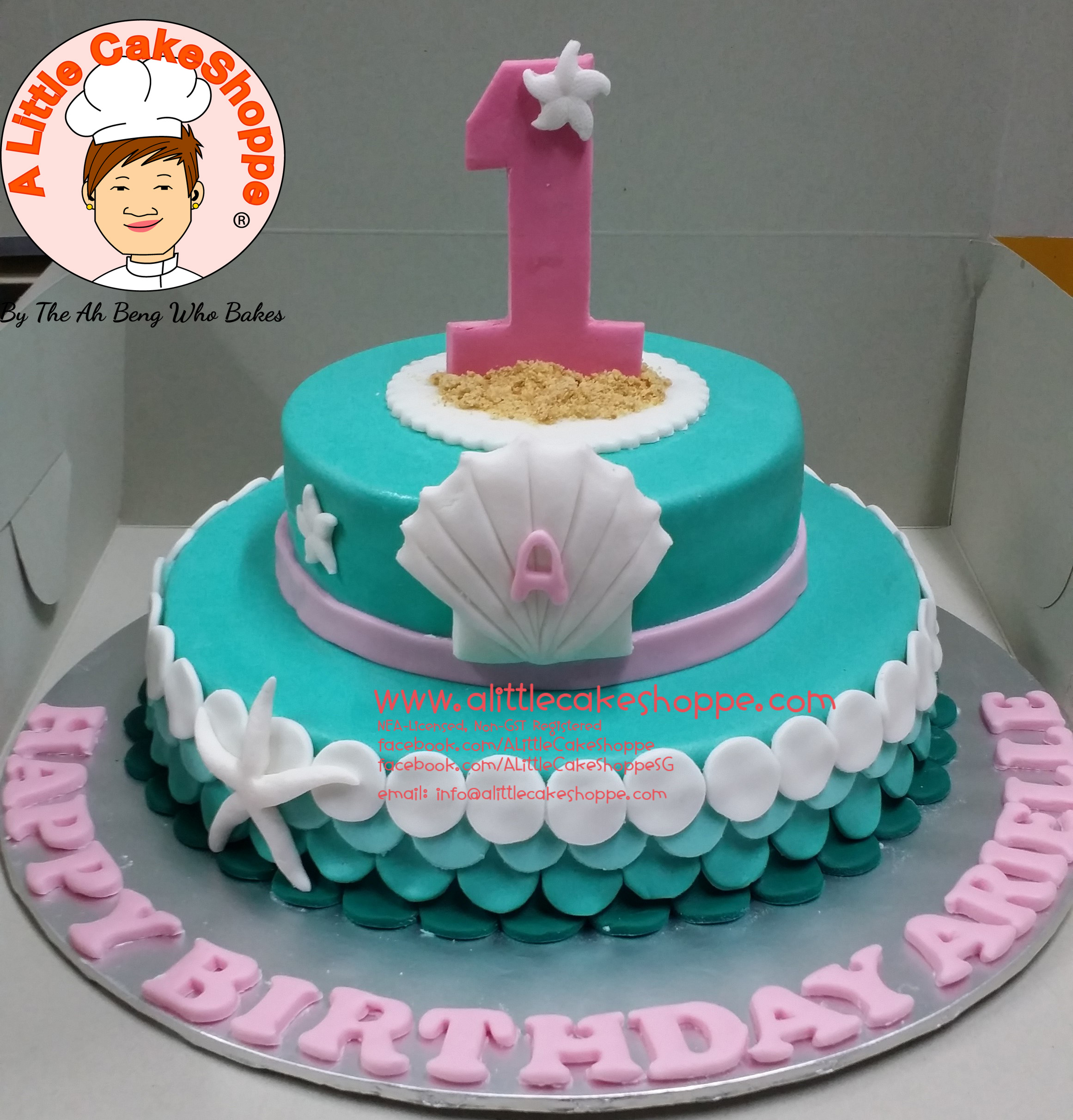 Best Customised Cake Singapore custom cake 2D 3D birthday cake cupcakes desserts wedding corporate events anniversary 1st birthday 21st birthday fondant fresh cream buttercream cakes alittlecakeshoppe a little cake shoppe compliments review singapore bakers SG cakeshop ah beng who bakes sea seashell