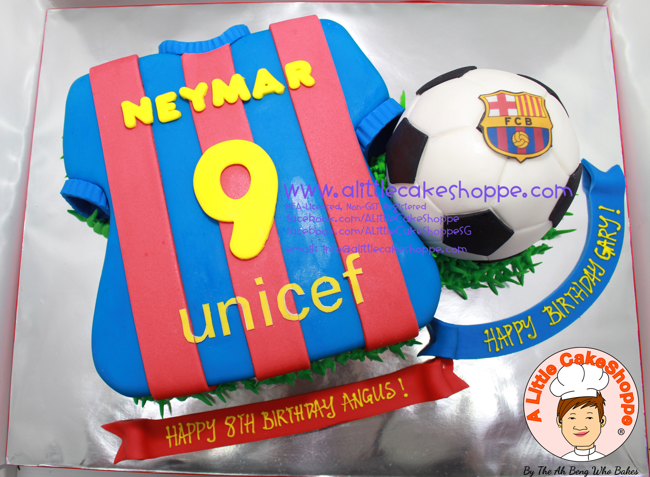 Best Customised Cake Singapore custom cake 2D 3D birthday cake cupcakes desserts wedding corporate events anniversary 1st birthday 21st birthday fondant fresh cream buttercream cakes alittlecakeshoppe a little cake shoppe compliments review singapore bakers SG cakeshop ah beng who bakes sports soccer football