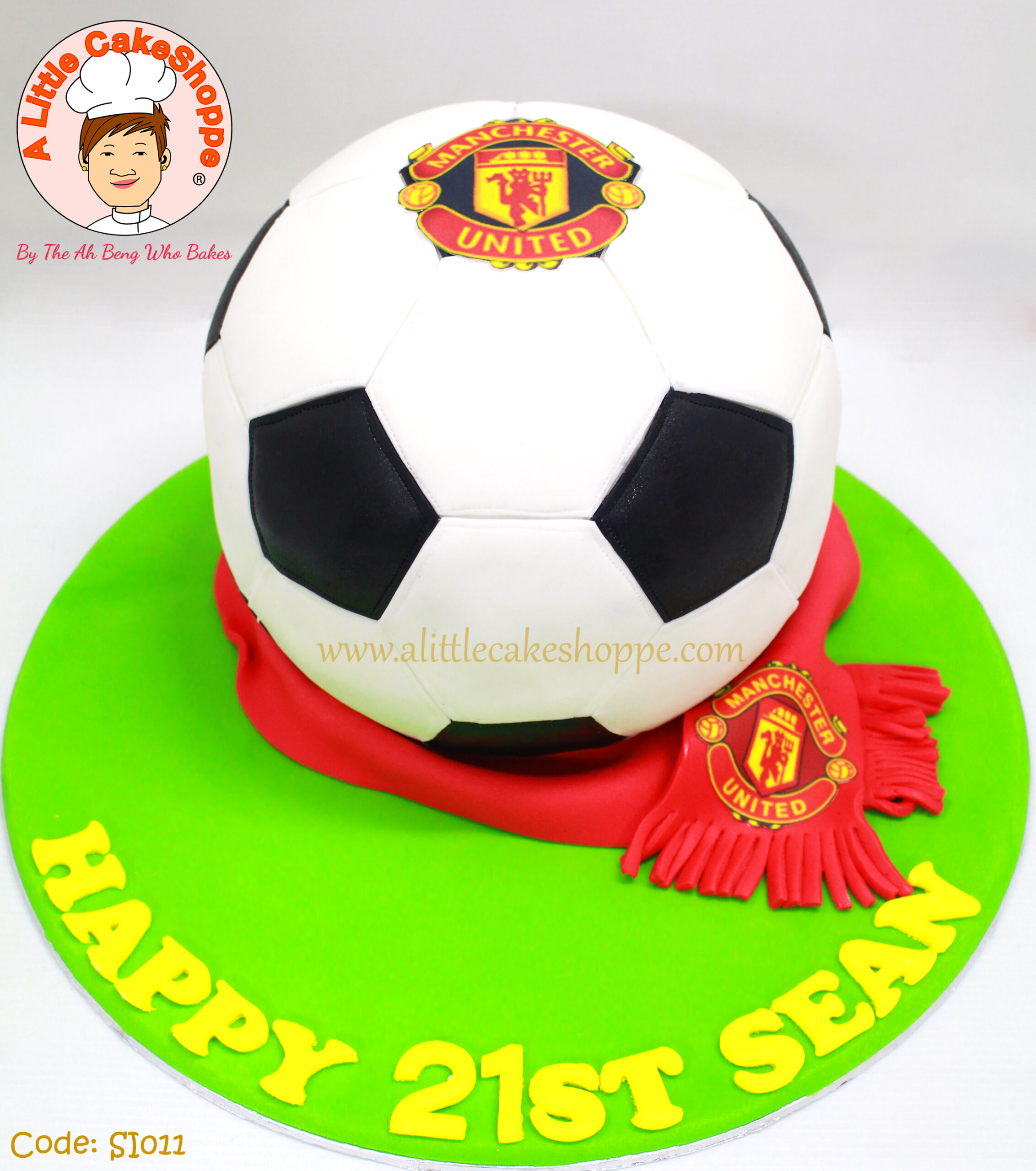 Best Customised Cake Singapore custom cake 2D 3D birthday cake cupcakes desserts wedding corporate events anniversary 1st birthday 21st birthday fondant fresh cream buttercream cakes alittlecakeshoppe a little cake shoppe compliments review singapore bakers SG cakeshop ah beng who bakes sports soccer football man u manchester united