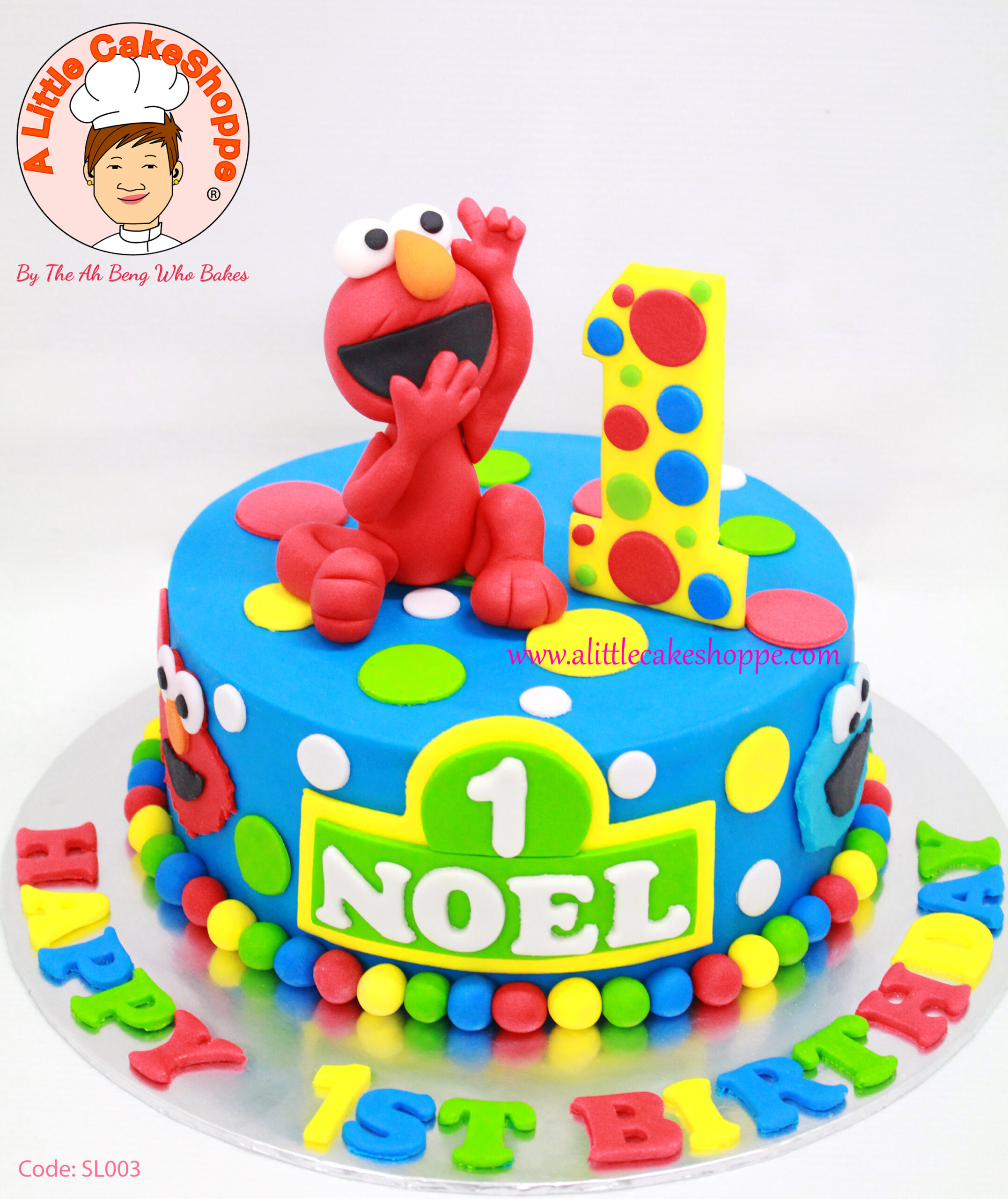Best Customised Cake Singapore custom cake 2D 3D birthday cake cupcakes desserts wedding corporate events anniversary fondant fresh cream buttercream cakes alittlecakeshoppe a little cake shoppe compliments review singapore bakers SG cakeshop ah beng who bakes elmo sesame street cookie monster