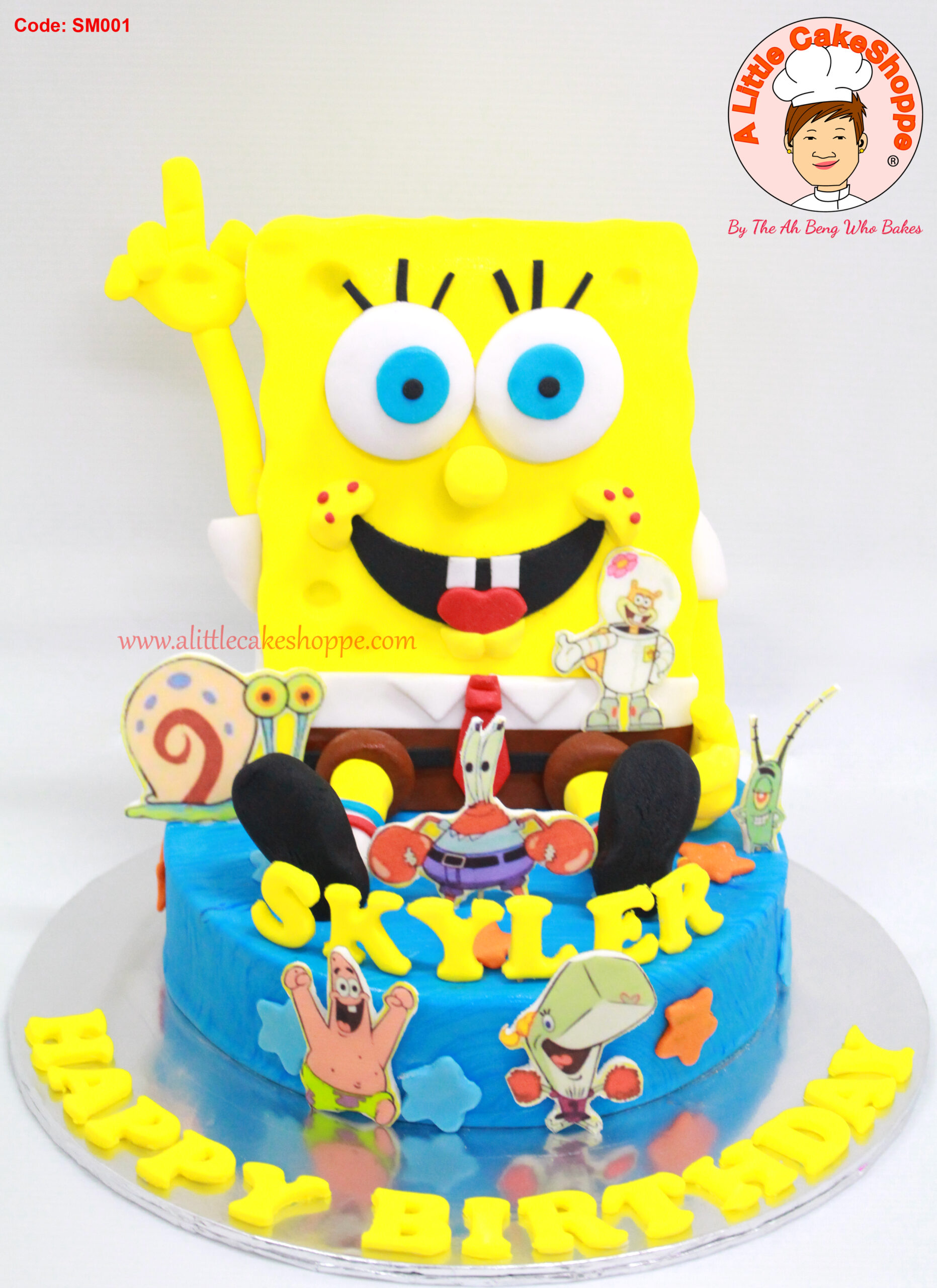 Best Customised Cake Singapore custom cake 2D 3D birthday cake cupcakes desserts wedding corporate events anniversary fondant fresh cream buttercream cakes alittlecakeshoppe a little cake shoppe compliments review singapore bakers SG cakeshop ah beng who bakes spongebob square pants