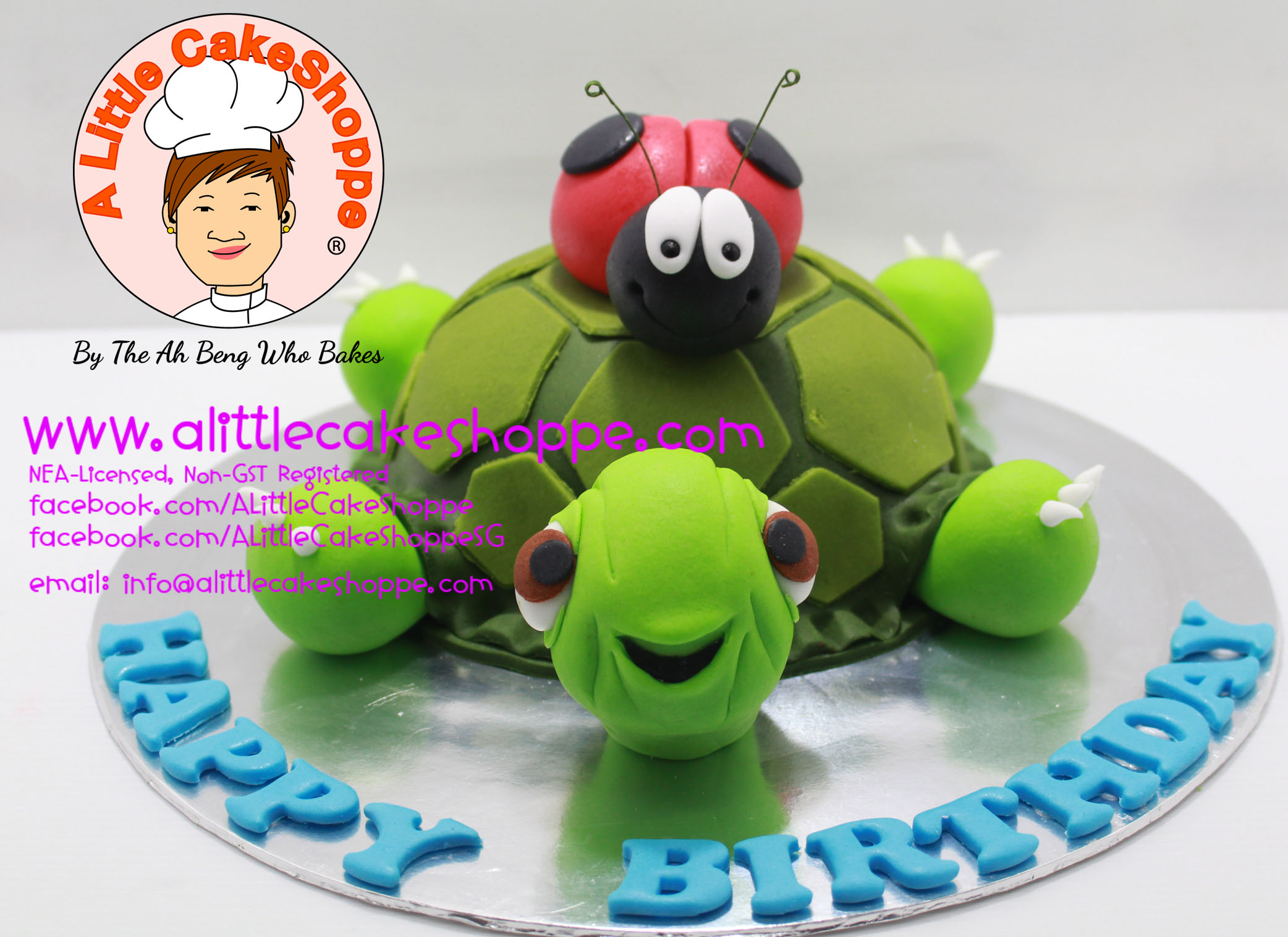 Best Customised Cake Singapore custom cake 2D 3D birthday cake cupcakes desserts wedding corporate events anniversary fondant fresh cream buttercream cakes alittlecakeshoppe a little cake shoppe compliments review singapore bakers SG cakeshop ah beng who bakes animals tortoise beetle