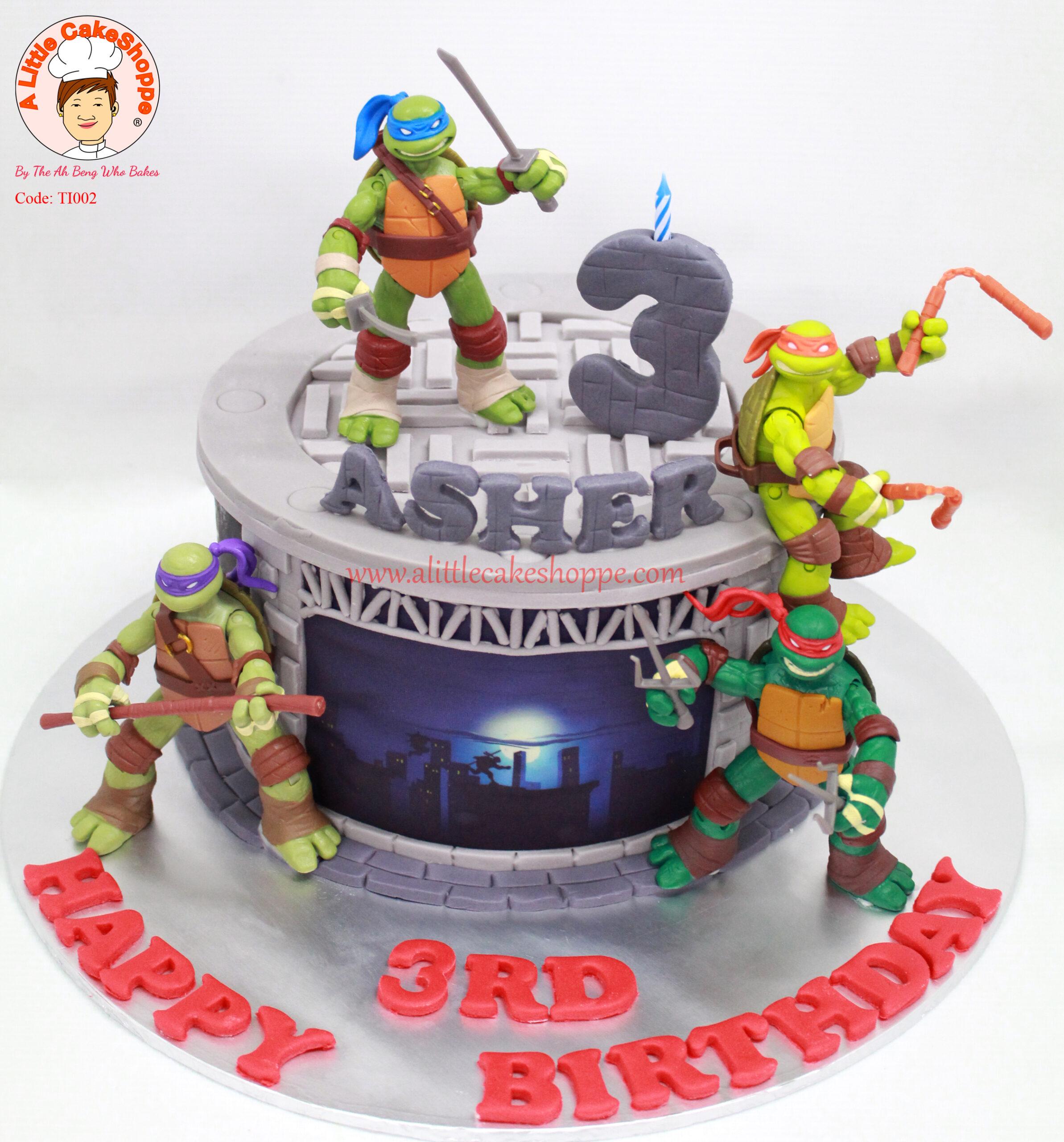 Best Customised Cake Singapore custom cake 2D 3D birthday cake cupcakes wedding corporate events anniversary fondant fresh cream buttercream cakes alittlecakeshoppe a little cake shoppe compliments review singapore bakers SG cakeshop ah beng who bakes teenage mutant ninja turtles