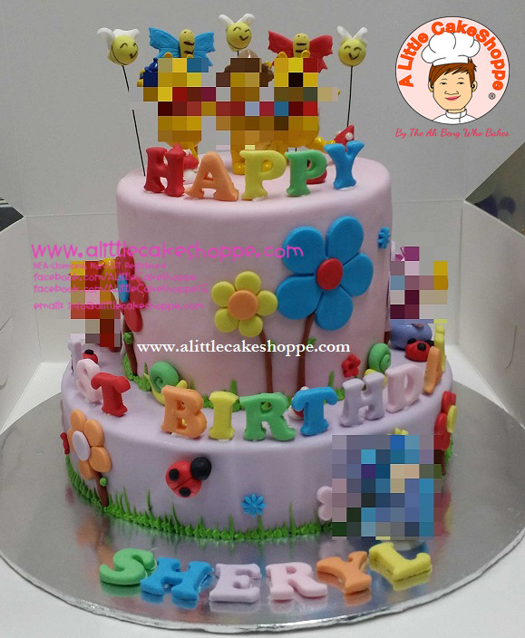 Best Customised Cake Singapore custom cake 2D 3D birthday cake cupcakes wedding corporate events anniversary fondant fresh cream buttercream cakes alittlecakeshoppe compliments review singapore bakers SG cakeshop ah beng who bakes winnie the pooh honey bees and