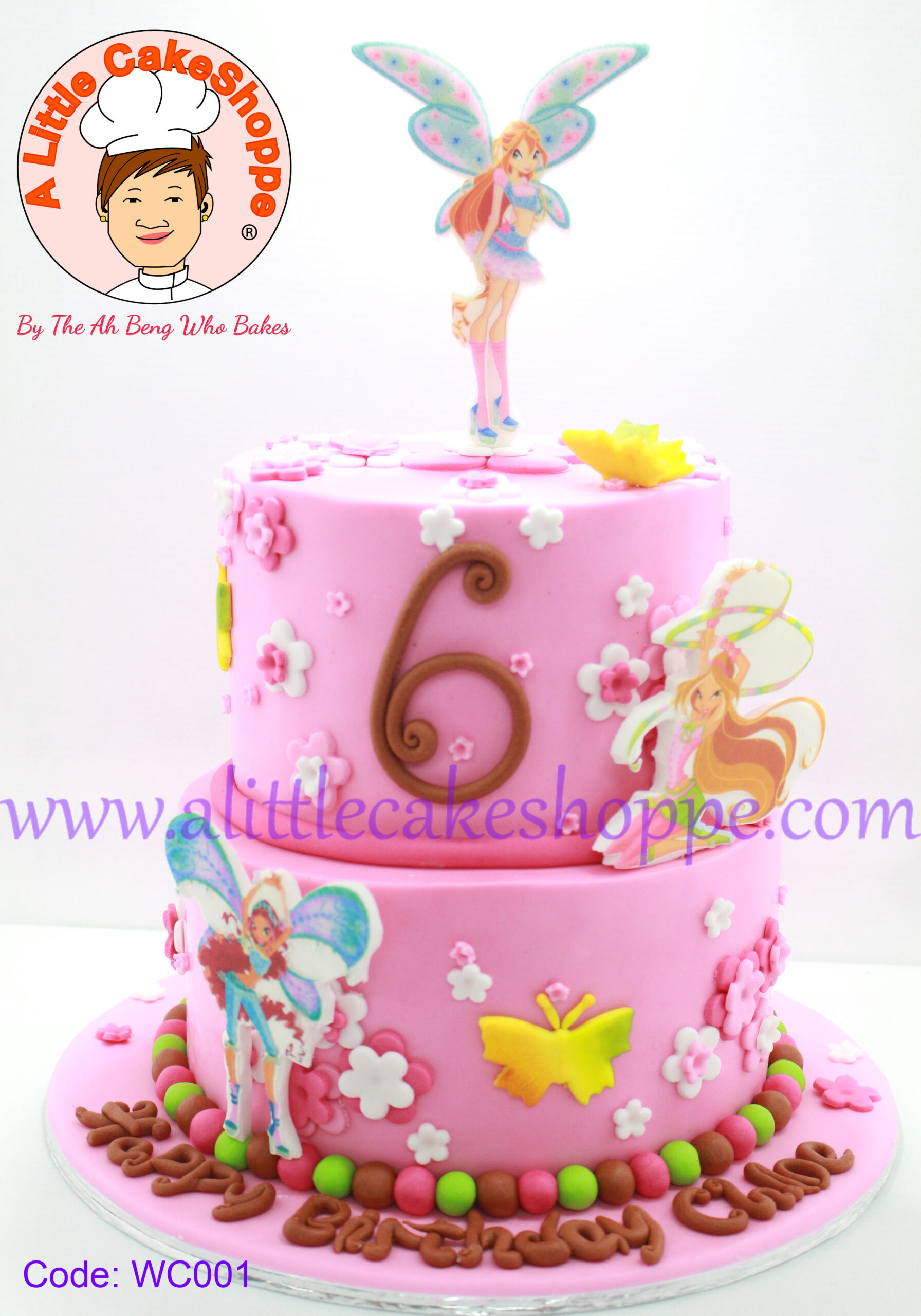 Best Customised Cake Singapore custom cake 2D 3D birthday cake cupcakes wedding corporate events anniversary fondant fresh cream buttercream cakes alittlecakeshoppe compliments review singapore bakers SG cakeshop ah beng who bakes winx club fairies